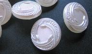 Glasknoop - wit/zilverglans 14 mm