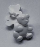 Beertje - wit 17 x 12 mm