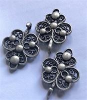 Sluiting - oud zilver 5  x 2 cm