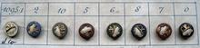 8 Buttons - Antique Button 9 mm