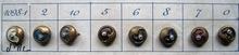8 Antieke knoopjes 9 mm