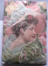 Geurzakje - Vrouw met hoed 17,5 x 11,5 cm