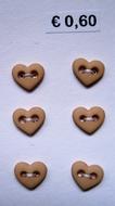 6 Miniherz  - Beige 6  x 7 mm