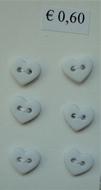 6 Miniherz - Pastelgelb 6  x 7 mm