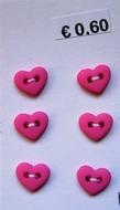6 Miniherz - Rosa 6  x 7 mm