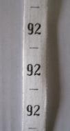 Maatlint - Zwart maat 92