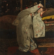 Meisje in witte kimono George Hendrik Breitner