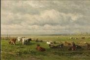Italiaans landschap Hendrik Voogd