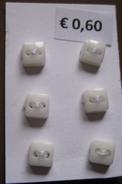 6 knöpfe - Weis 5 mm