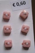 6 knöpfe -Rosa 5 mm
