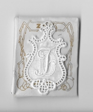 6 Monogrammen D.F. 4,5 x 2,5 cm