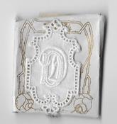 6 Monogrammen D.D. 4,5 x 2,5 cm