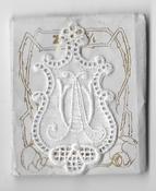 6 Monogrammen A.U. 4,5 x 2,5 cm
