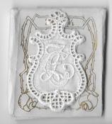 6 Monogrammen C.Z. 4,5 x 2,5 cm