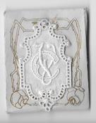 6 Monogrammen C.V. 4,5 x 2,5 cm
