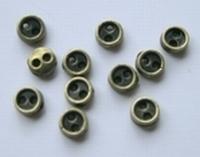 6 knoopjes - bronskleur 5 mm
