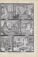 Orgineel blad uit Larouse - Schermen 28 x 18 cm