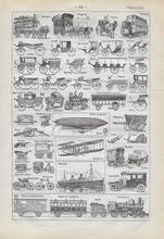 Orgineel blad uit Larouse - Schip 28 x 18 cm
