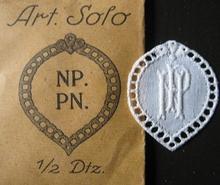 6 Monogrammen - N.P. - P.N. 29 x 24 mm