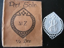 6 Monogrammen - H.O. - O.H. 29 x 24 mm