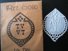 5 Monogrammen - H.O. - O.H. 29 x 24 mm