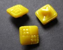 Glasknoop - geel 9 mm
