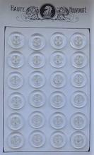 24 Knöpfe - Blau 18 mm