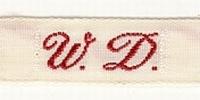 Initiaal - Lint W.D. Lint 1 cm breed