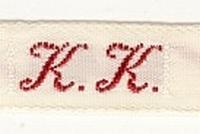 1 Initiaal - Lint K.K. Lint 1 cm breed