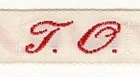 1 Initiaal - Lint T.O. Lint 1 cm breed