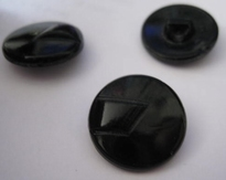 Button - black 13 mm