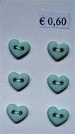 6 Miniherz - Grün 6  x 7 mm