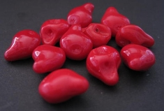 Button-red 15 x 11 mm