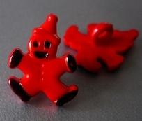 Clown - rood 17mm breed