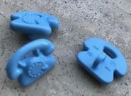 Telefoon - blauw 12 x 17 mm