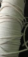 Elastiek - wit (2mtr) 2 mm