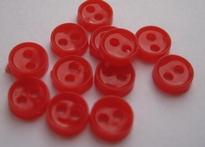 Poppenknoop - rood 6 mm