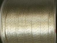 Schnur - ecru mit gold 2 mm
