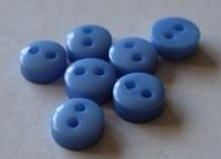 Poppenknoop - blauw 6 mm