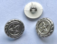Grey-Button 15 mm