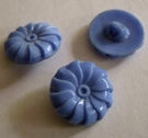 Glasknoop - blauw 18 mm