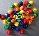 6 knoopjes - oranje 5 mm