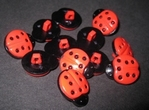 Ladybugs 18 x 15 mm