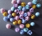 6 mini buttons - pink 5 mm