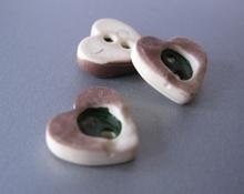 Hartje met groen vlakje 11 mm