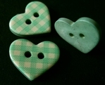 Heart - Button 13 x 18 mm