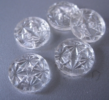 Button - transparent 13 mm