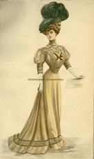 Costume Tailleur 1907 28,5 x 16,5 cm