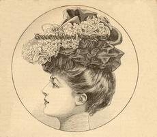 Costume Tailleur 1907 20 x 23 cm