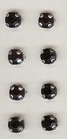 8 x  zwart 5 mm